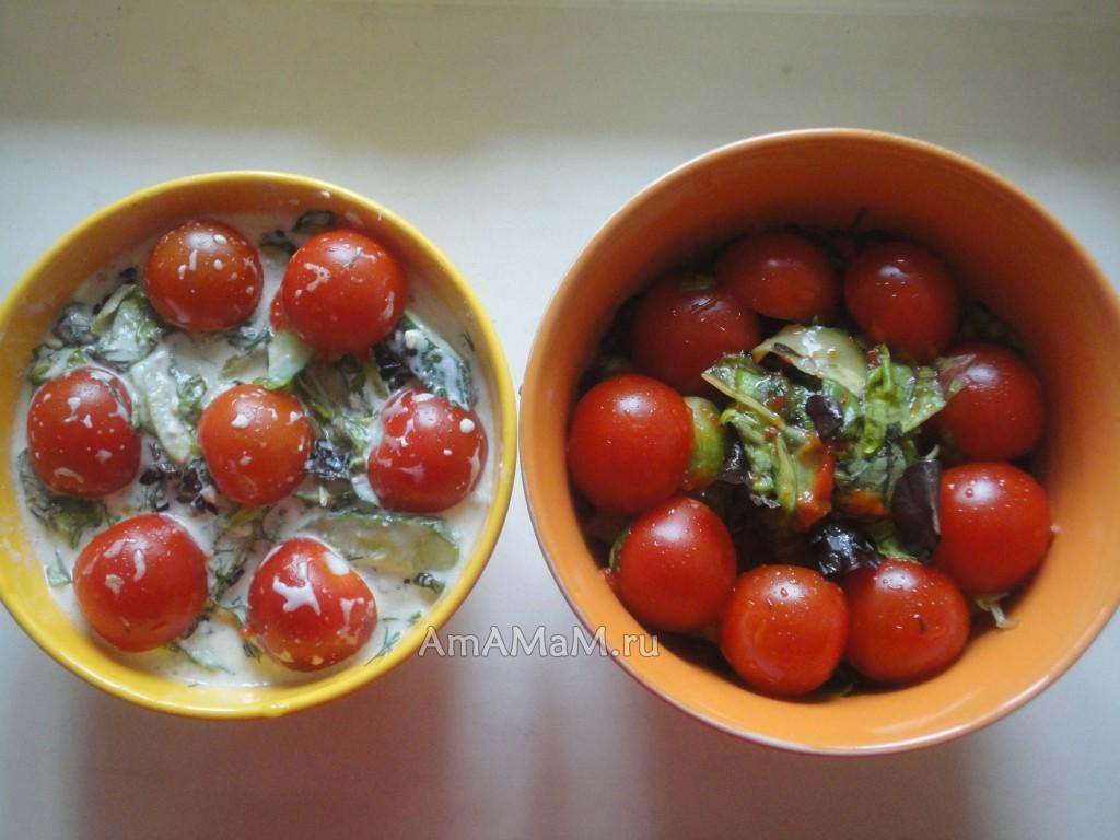 Что приготовить из листового салата Микс - фото салатов