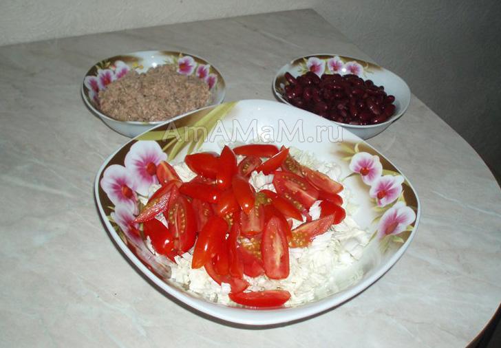 Что кладут в салат из тунца с фасолью - фото и рецепт