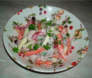 Рецепт салата из языка