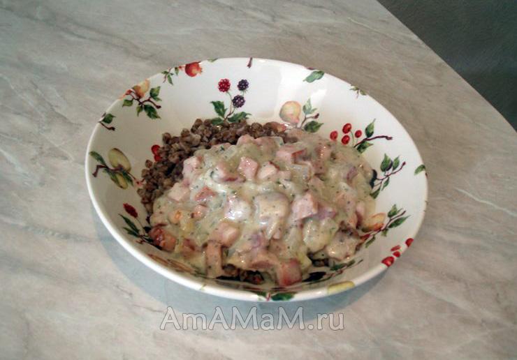 Подливка из ветчины - рецепт со сливками