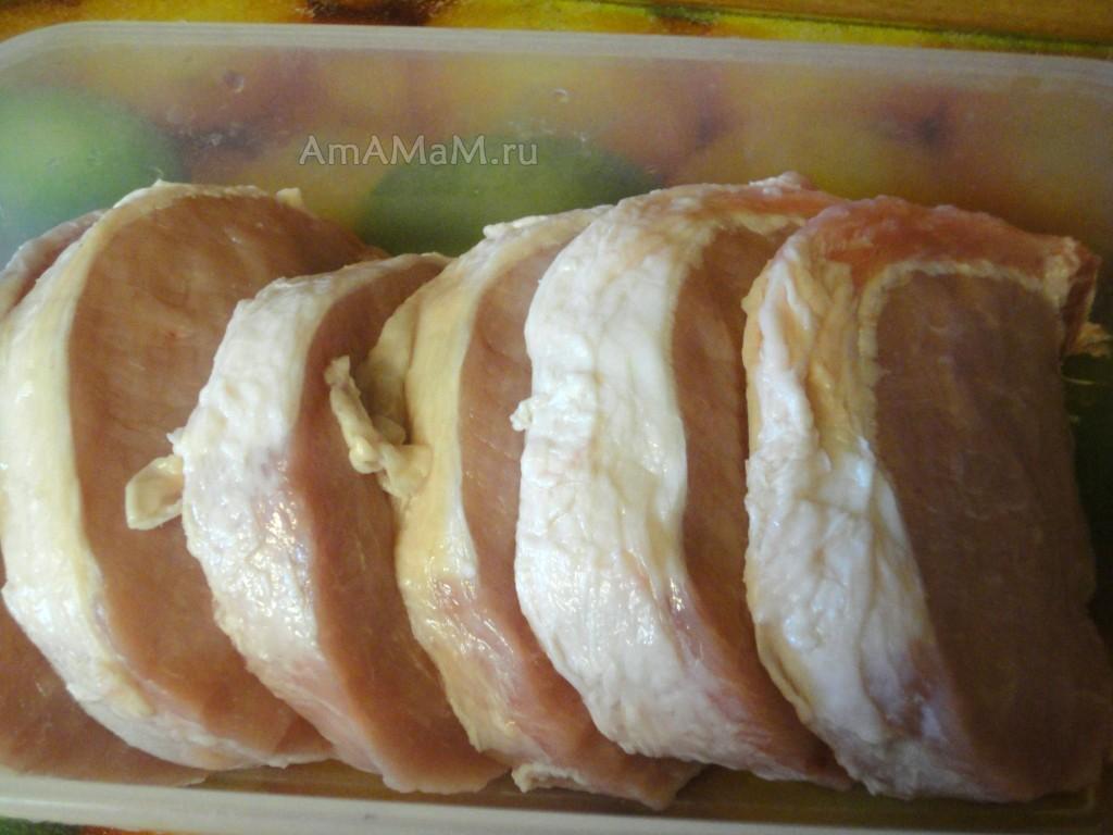 Рецепты отбивных свинины фото пошагово