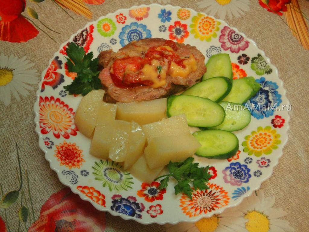 Блюдо из филе свинины - мясо-гармошка