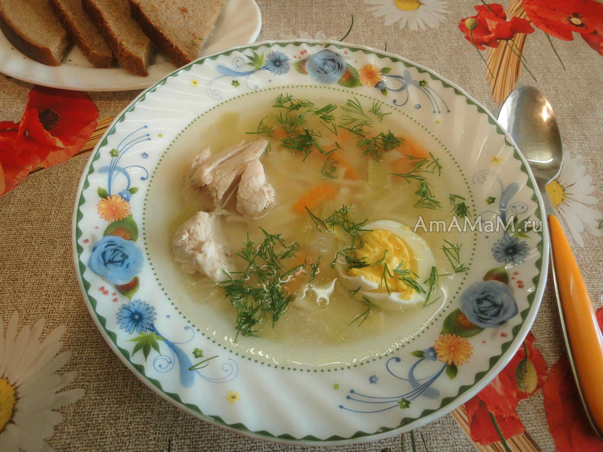 Суп с домашней лапшой с курицей рецепт пошагово