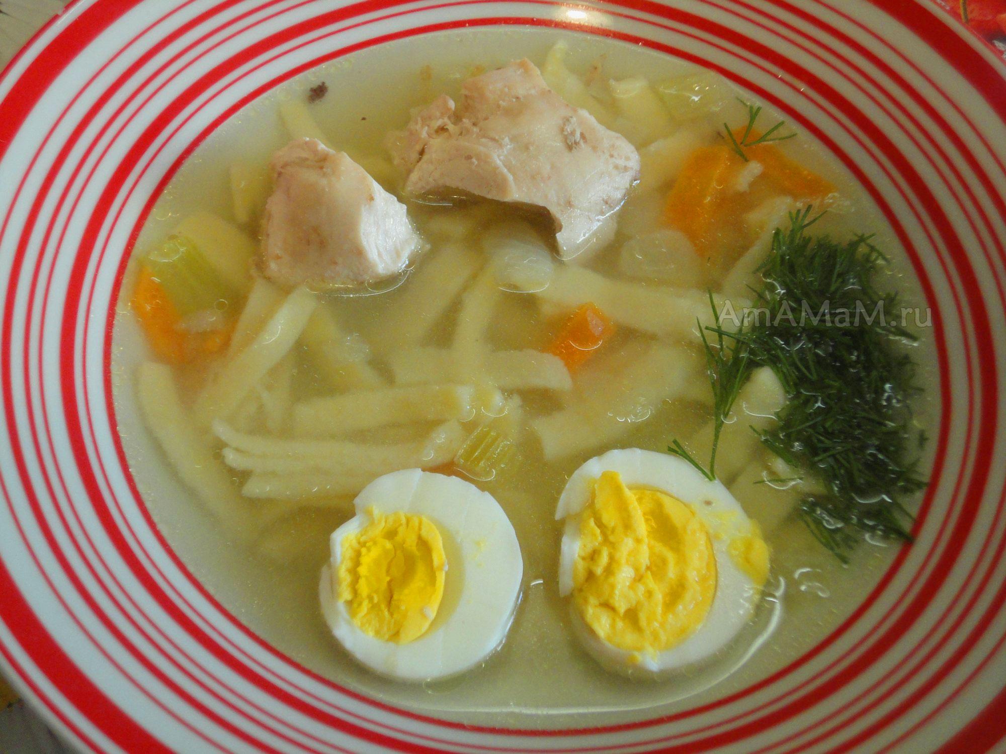 Куриная суп лапша по домашнему рецепт пошагово