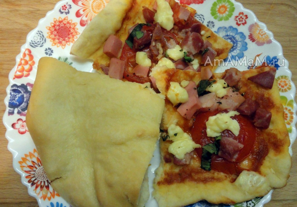 Рецепт пиццы и пирогов в домашних улсовиях