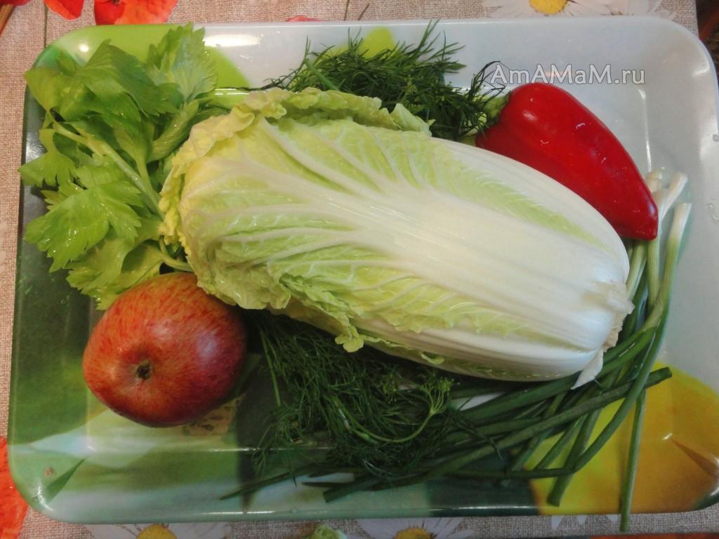 Состав и рецепт осеннего салата с фото