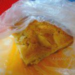 Банановый пирог с медом, лимоном и яблоком