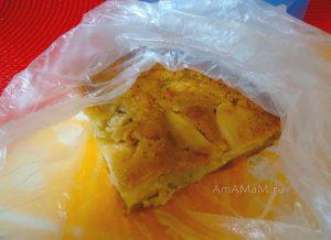 Яблочно-банановый пирог с лимоном и медом