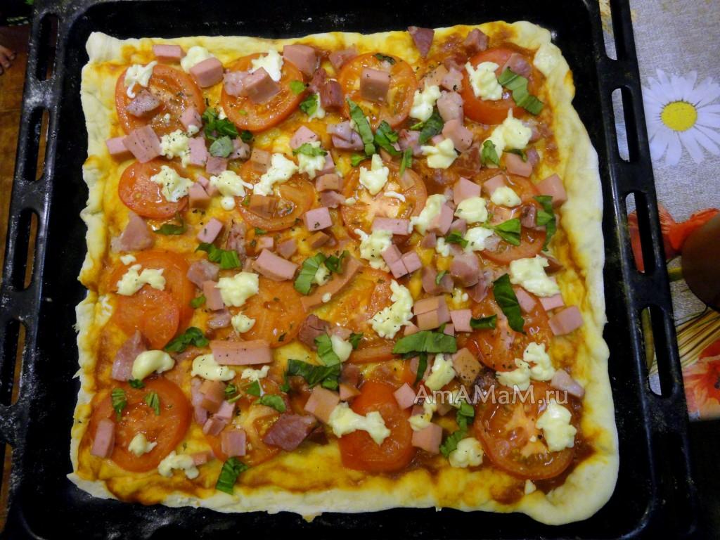 Начинка для пиццы пошаговый рецепт с