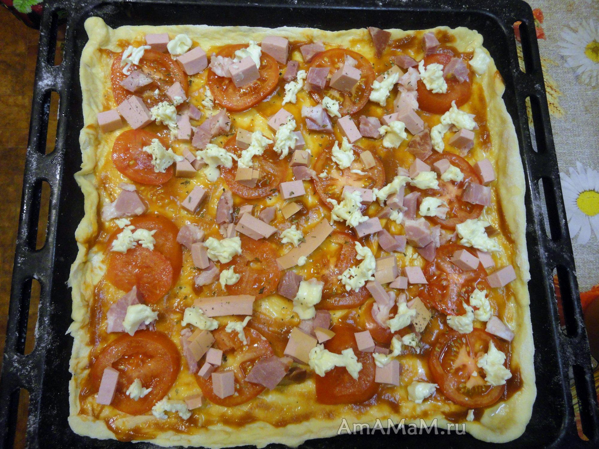 Пицца в домашних условиях в духовке с фото 458