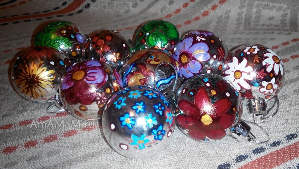 Что нарисовать на шариках для елки