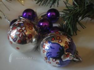 Фото новогодних игрушек - домашняя роспись
