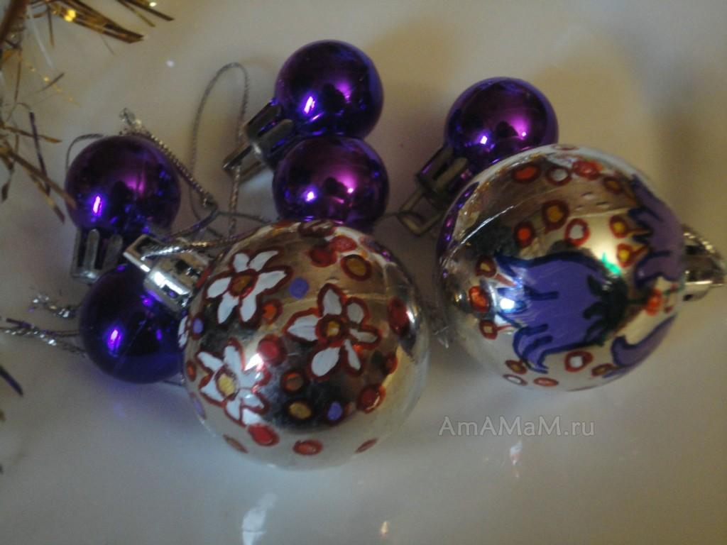 Красивые елочные шары - фото