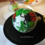 Роспись елочных шаров - фото