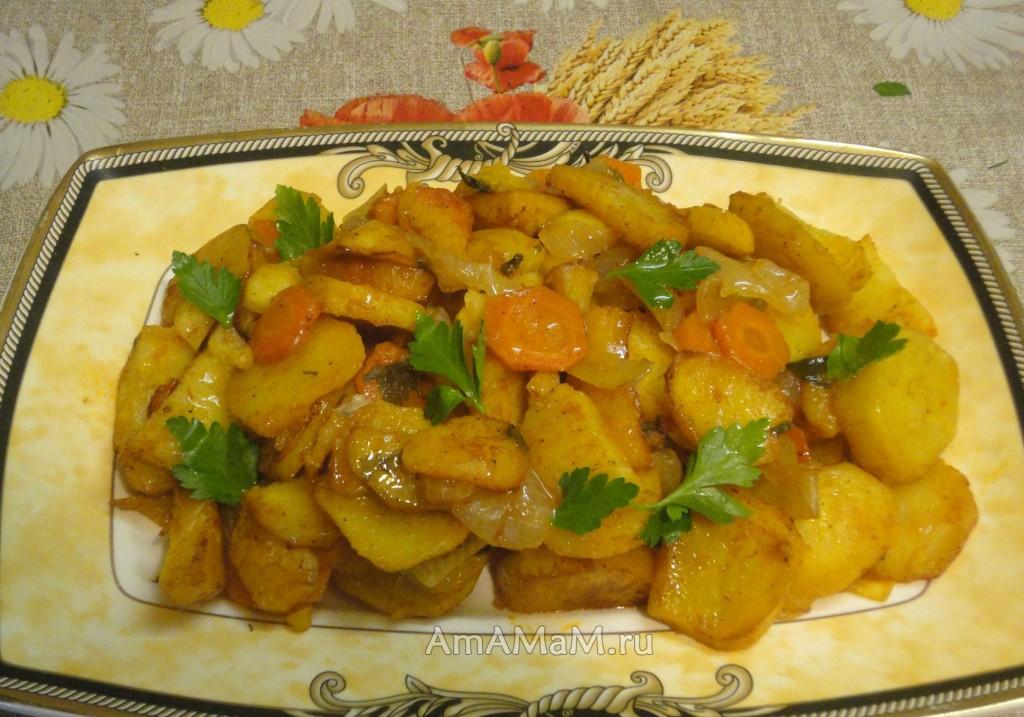 Рецепт тушеного картофеля в духовке