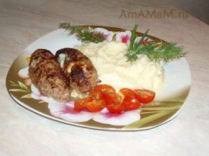 ЛЮля-кебаб с фетой и грибами