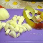 Нарезка яблока в салат (кубики)