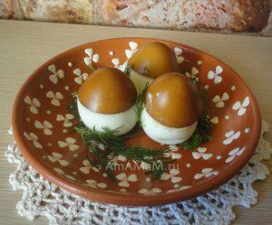 Как сделать грибочки с коричневыми шляпками из яиц - рецепт закуски