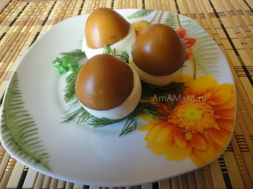 Как делают грибочки из яиц - способ приготовления и фото