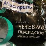Как выглядит пакет красной чечевицы - упаковка Мистраль
