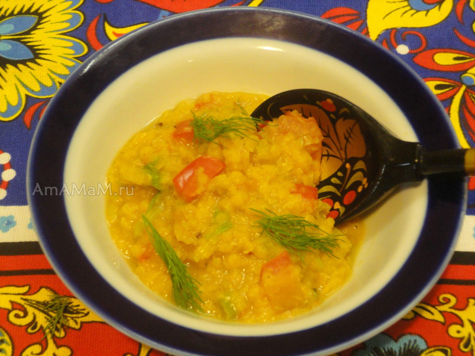 Суп с оранжевой чечевицей рецепт