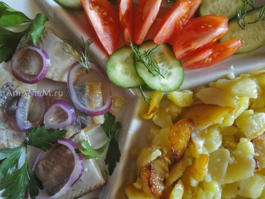 Рецепты постных блюд с селедкой с фото