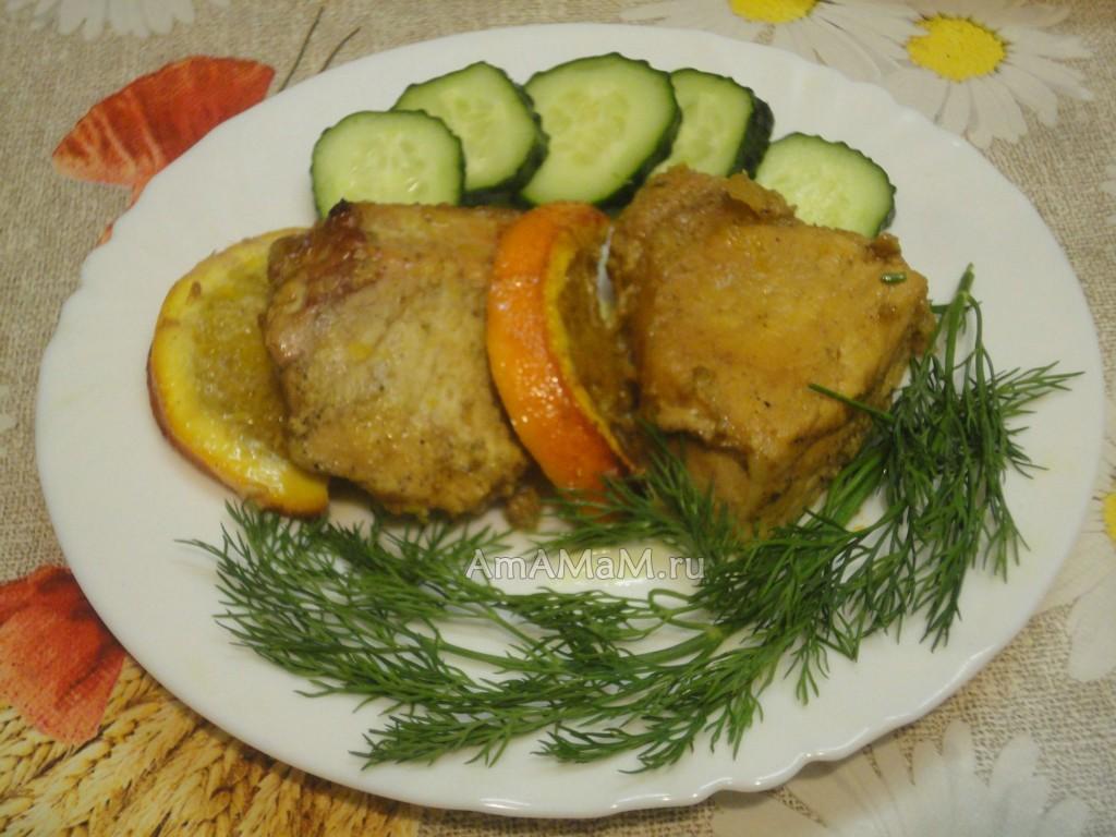 Свинина в медово-апельсиновом маринаде