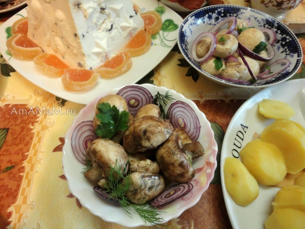 Что сделать из шампиньнов к празднику - рецепты