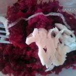 Фото кальмаров со свеклой - вкусный салат