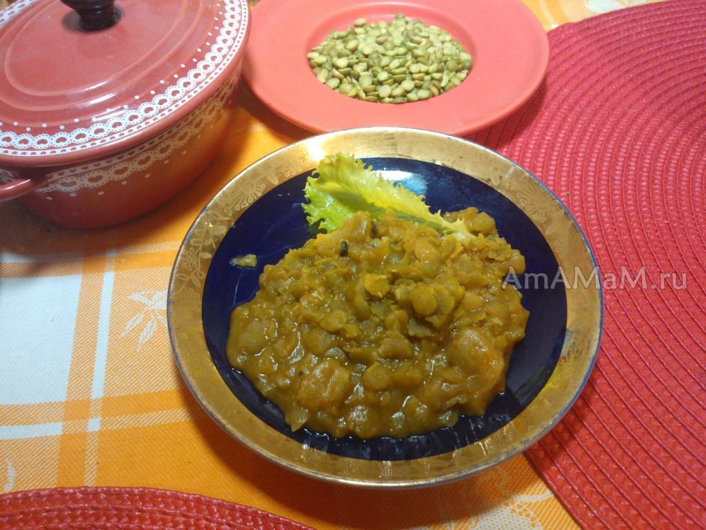 Приготовление пюре из зеленого колотого гороха