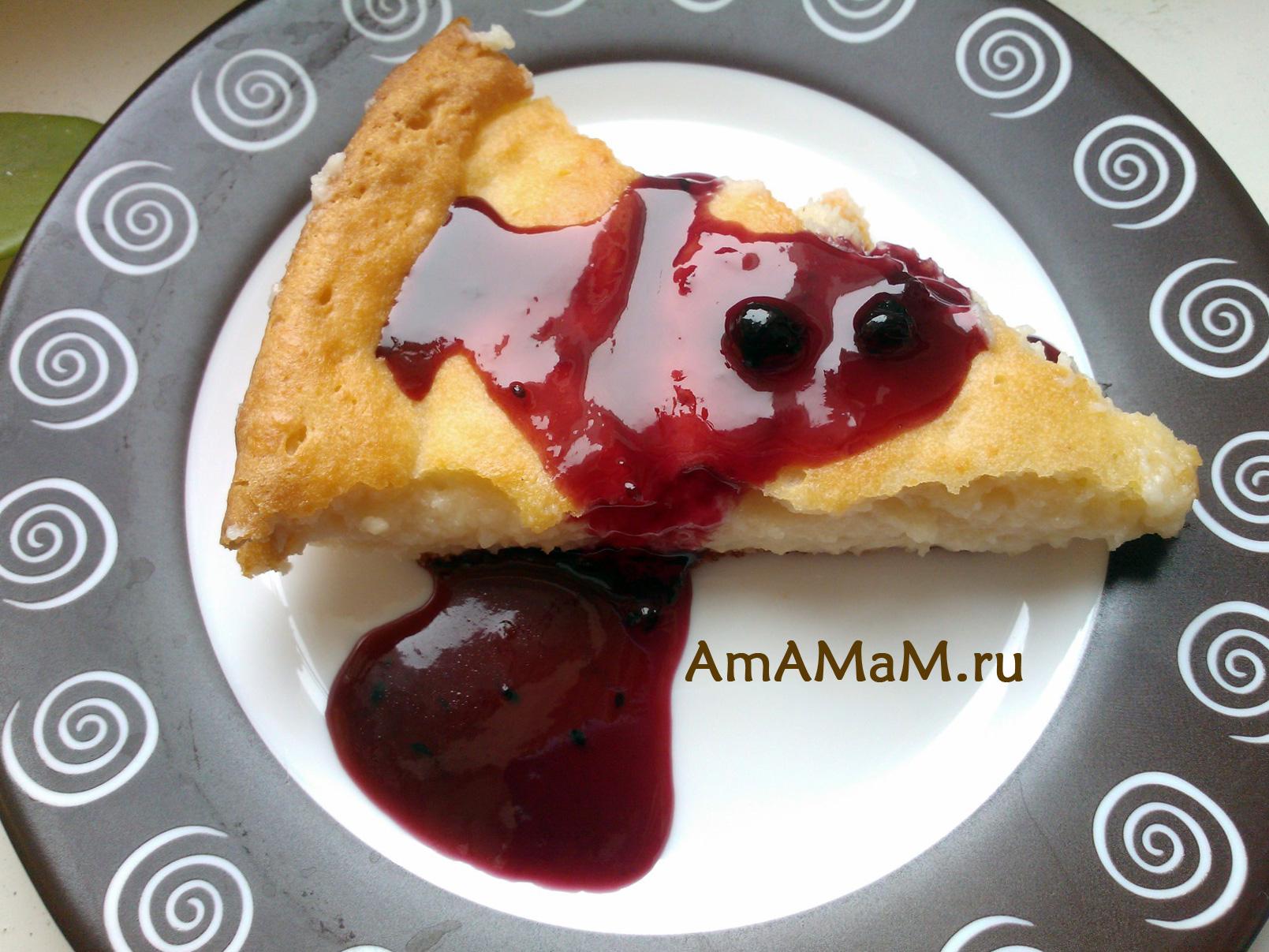 Черносмородиновое варенье с творожным пирогом