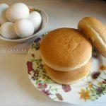 Фото яиц и булочек на гамбургеры