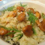Лисички с рисом