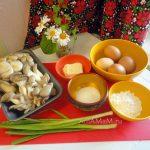 Вешенки в омлете - состав блюда