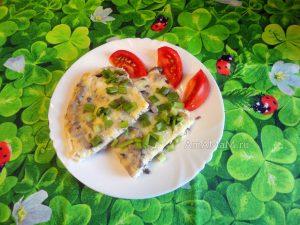 Омлет с вешенками - простой рецепт
