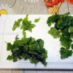 Какую зелень добавить к свиной диафрагме - петрушка и базилик