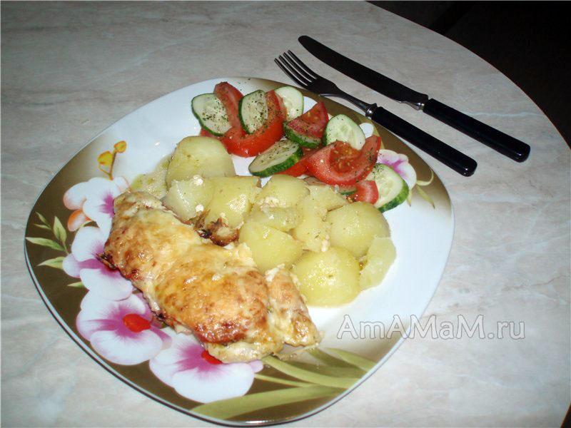 про приготовить с соусом песто - рецепт запеченной куриной грудки