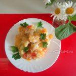 Хек в овощной подливке - рецепт и фото пошаговые