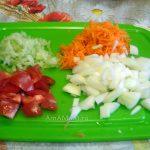 Фото измельченных овощей для подливки к рыбе