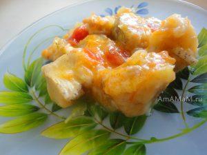 Хек тушеный с овощами - простой рецепт из рыбного филе
