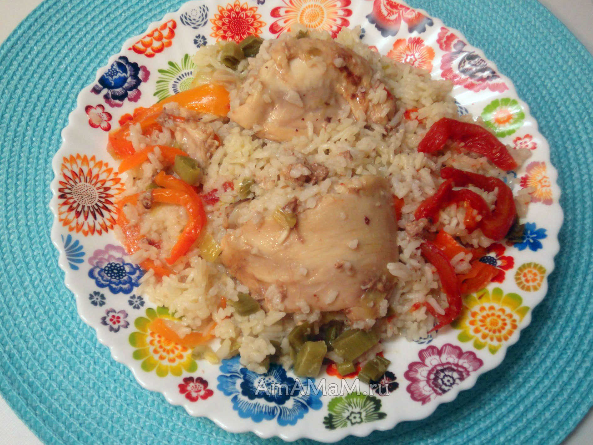 Курица с рисом в духовке - пошаговый рецепт с фото И вкусно и