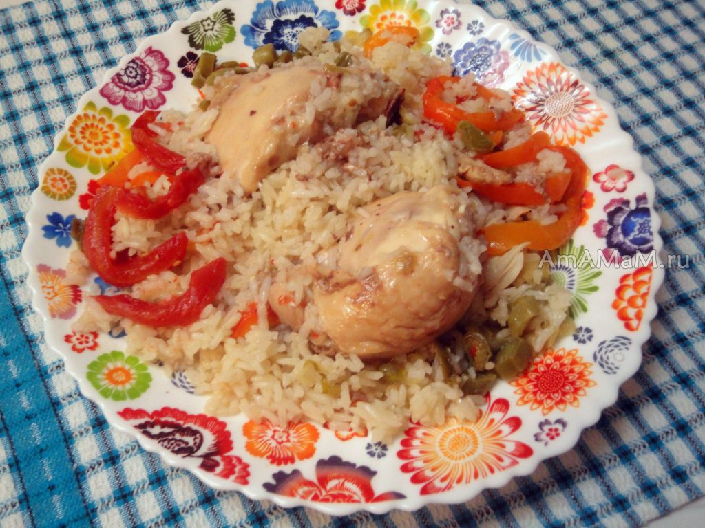 Курица тушеная с рисом рецепт с фото
