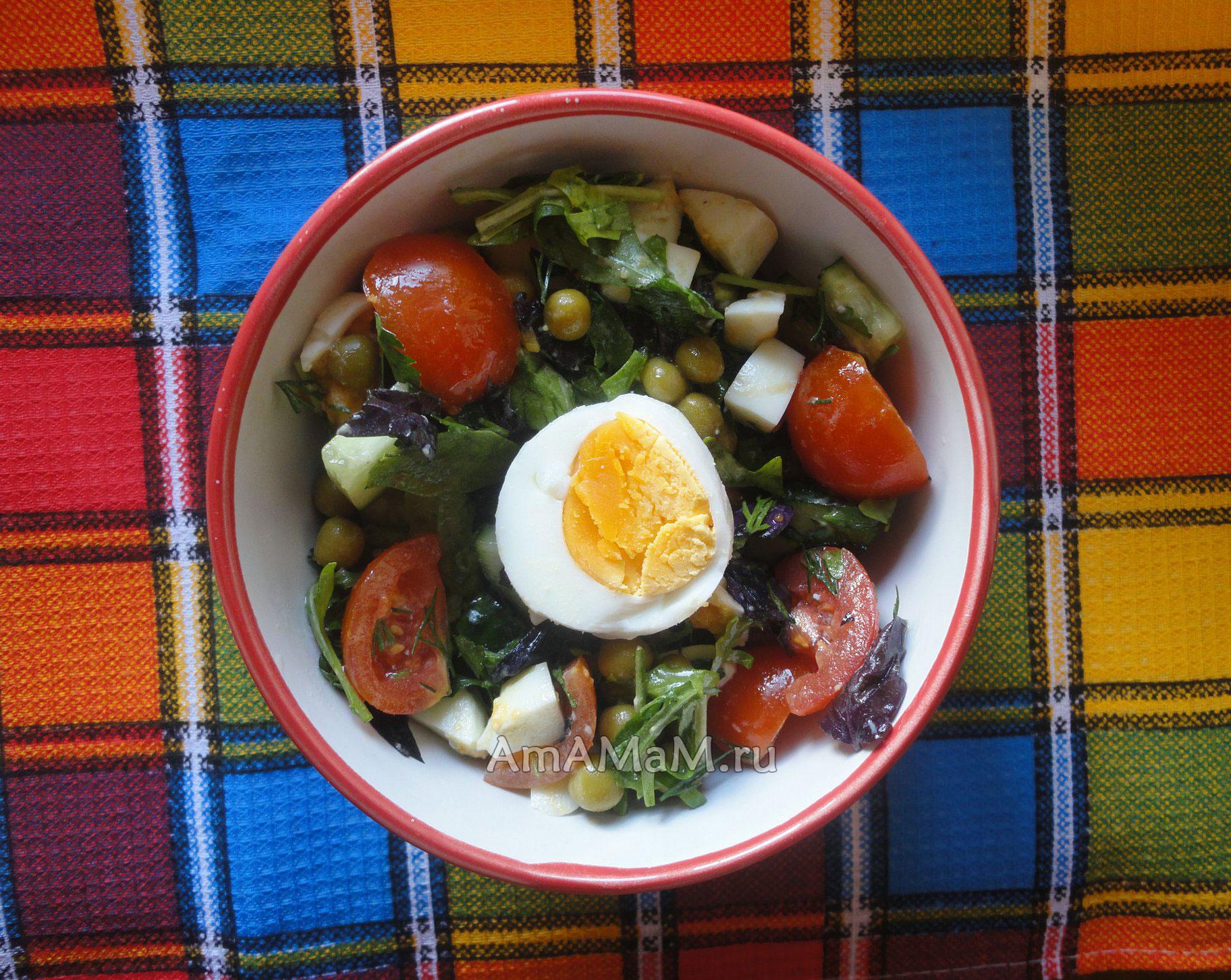 салат из руколы рецепты с помидорами фетой