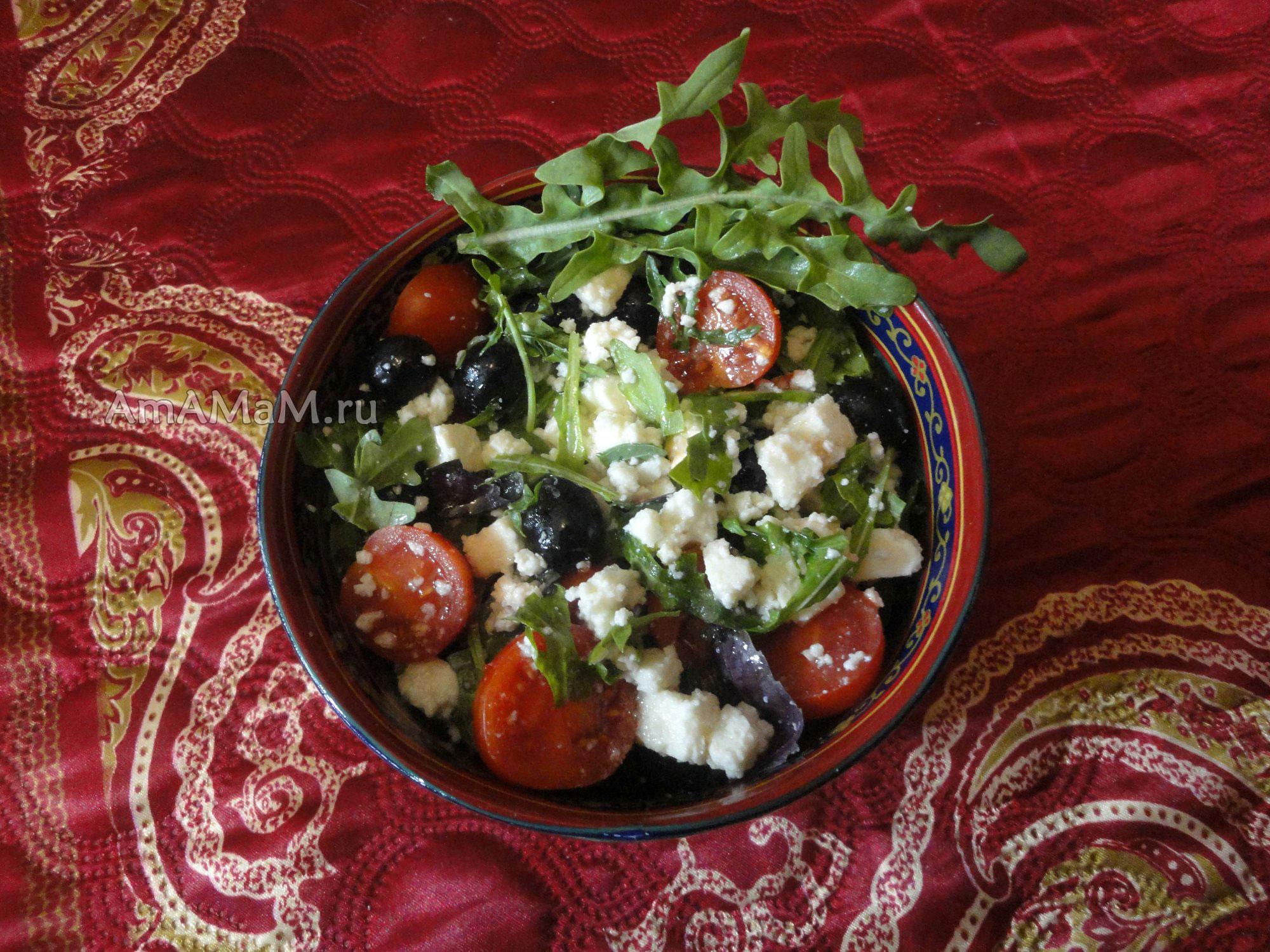 Салат с тунцом и руколой рецепт