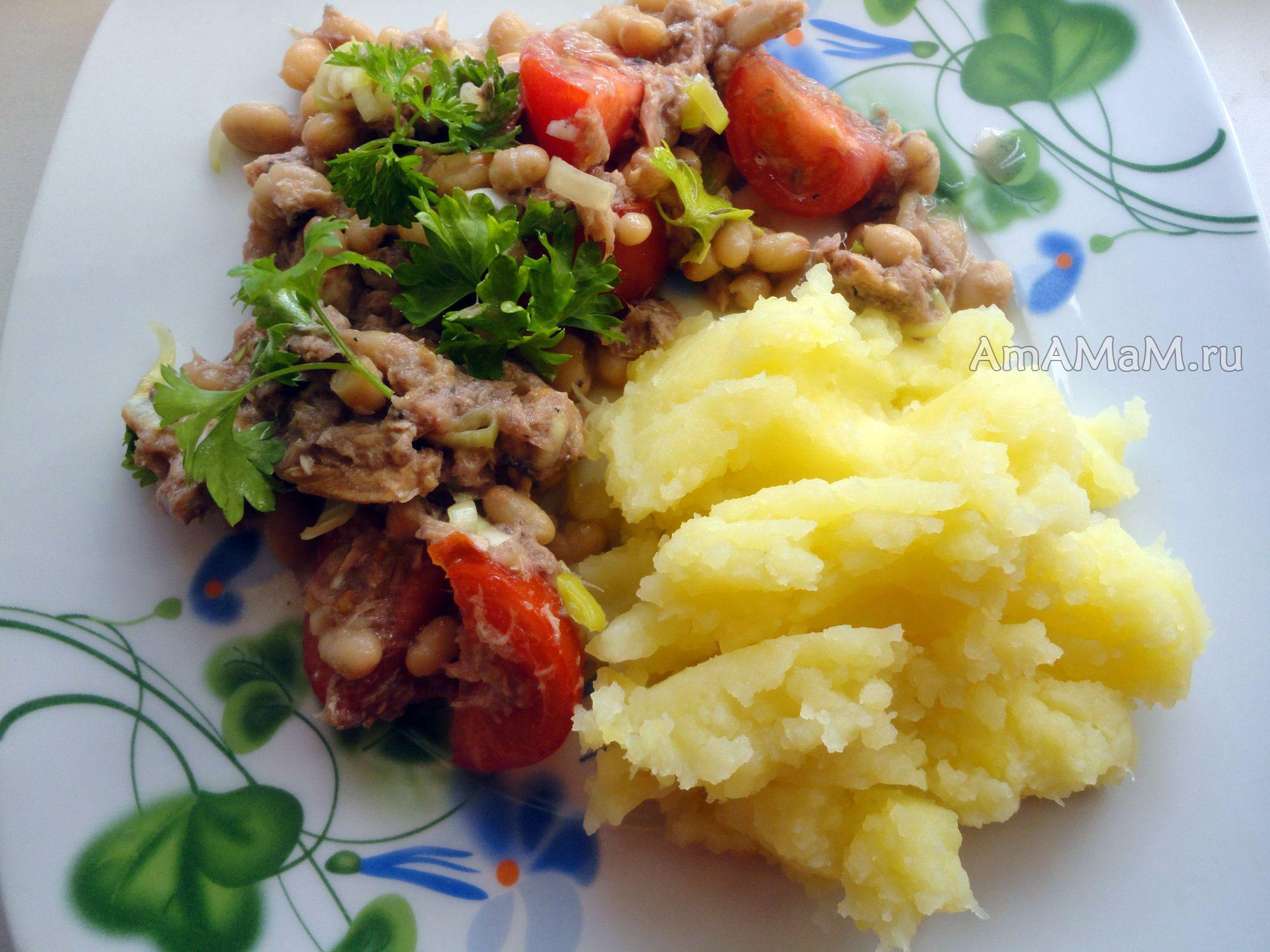 как приготовить салат с тунцом из консервы