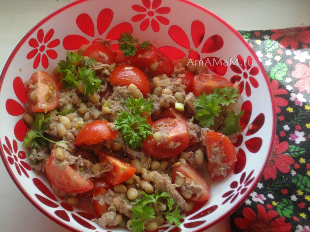 Тунец - рецепт салата из рыбных консервов