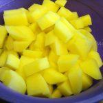 Фото картошки кубиками (нарезка)