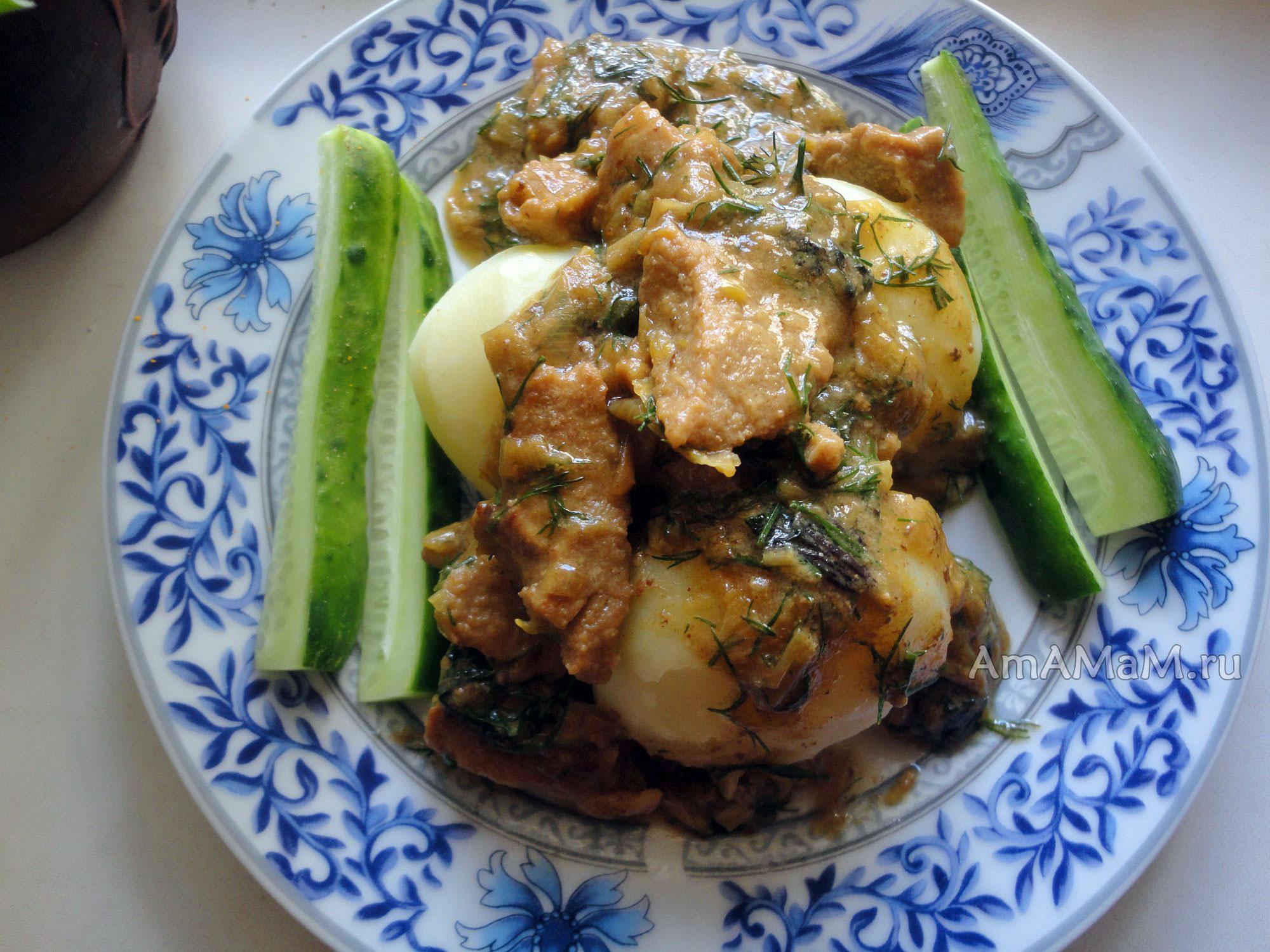 Рецепт картошки в заливке