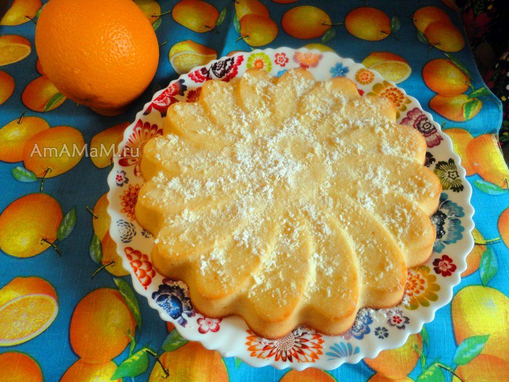 Способ приготовления апельсинового бисквитного пирога