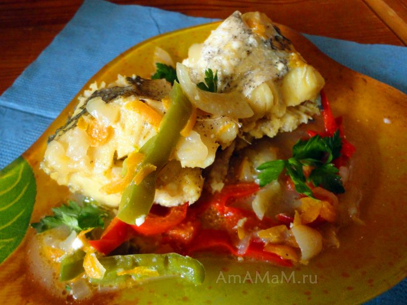 Хек тушеный с овощами рецепты фото